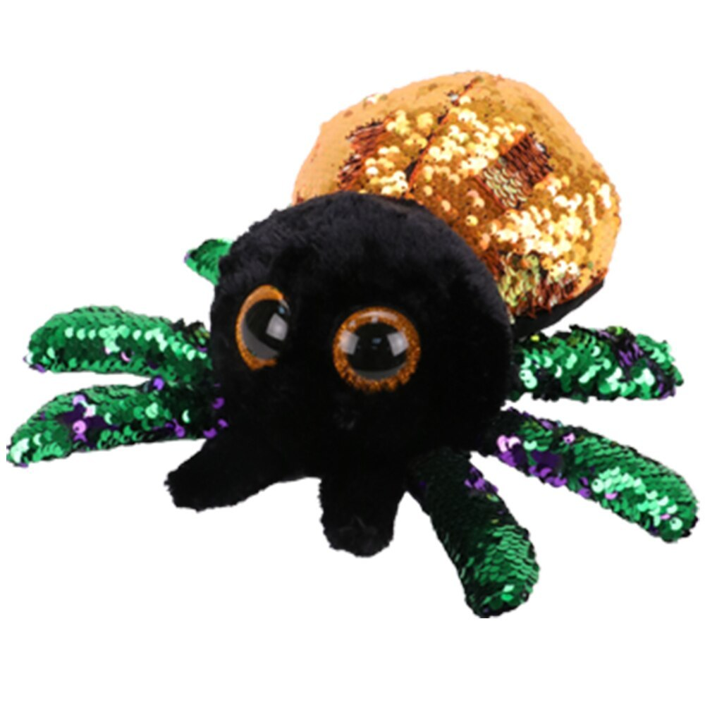 "Primary image for Pyoopeo Ty Sequins Flippables 10"" 25cm Glint the Spider Plush Medium Soft Big ey"