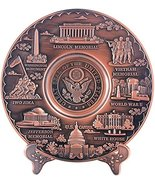 Copper Toned Washington D.C. Metal Souvenir Plate with Stand 6.5 inches ... - $19.99