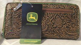 Gem Dandy Accessories John Deere Embossed Tan Floral Clutch image 5