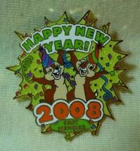 Walt Disney World Happy New Year 2008 Chip Dale Cast Member LE Pin - $30.95