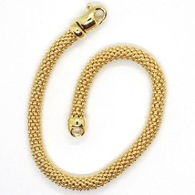 18K YELLOW GOLD BRACELET, 18.5 CM, 7.3 INCHES, BASKET WEAVE TUBE, 5 MM THICKNESS image 2