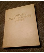 Embassies And Ambassadors In Rome Book 1927 Ltd Ed With Guido Cadorin Pr... - $186.64