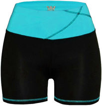 Women's W Sport Two Tone Athletic Work Out Fitness Stretch Gym Shorts AP-4815 image 5