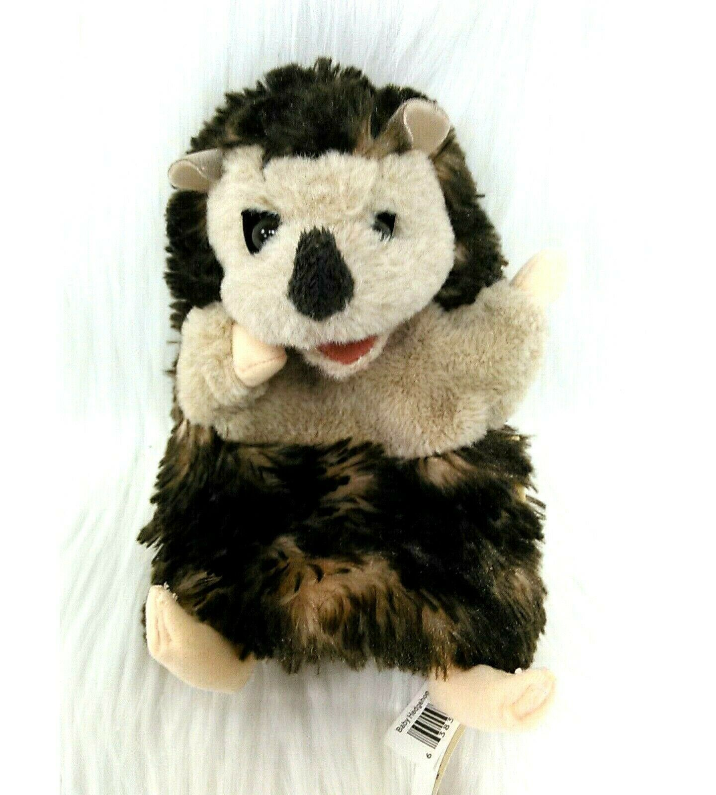 "15"" Folkmanis Baby Hedgehog Hand Puppet Brown Tan Furry Plush Toy B350 - $12.99"