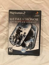 Video Game Playsatation PS2 Medal of Honor European Assault Sony 2005 - $0.99