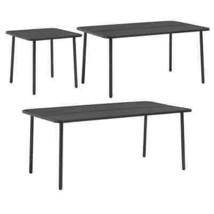 vidaXL Outdoor Dining Table Steel Garden Patio Bistro Cafe Furniture 3 S... - $108.99+