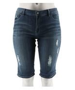 Hot in Hollywood Denim Boyfriend Shorts Cerulean Blue 2 NEW A290649 - $30.67