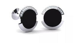 925 Sterling Silver Genuine Black Onyx And Cz Gemstone Artistic Design Handcraft image 2