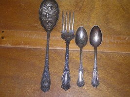 Antique Lot of 4 Nonmagnetic Silver Made in Sheffield England Wms Rogers - $18.49