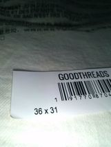 Goodthreads Men's Athletic-Fit Jean, White Vintage, Size 36W x 31L UNOPENED NEW image 4