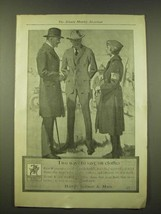 1918 Hart Schaffner & Marx Fashion Ad - Two ways to save on clothes - $14.99