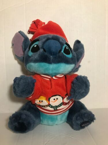 "Primary image for Disney Store Stitch Snowman Plush 12"" Holiday Christmas Lilo Exclusive Stuffed"