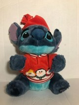 "Disney Store Stitch Snowman Plush 12"" Holiday Christmas Lilo Exclusive S... - $11.00"