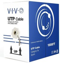 VIVO 1,000 ft bulk Cat5e Ethernet Cable/Wire UTP Pull Box 1,000ft Cat-5e... - $63.36