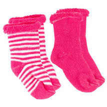 Kushies Terry Newborn Socks 2 Pack Fuchsia - $6.00