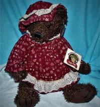 Vintage Dan Dee Collector's Choice Plush Girly Teddy Bear Doll with Dress RARE - $29.85
