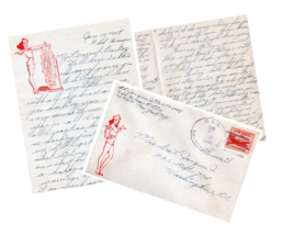 01/14/1948 LOVE LETTER + ORIGINAL ENVELOPE SOLIDER ABOARD U.S.S. HANSON ... - $19.99