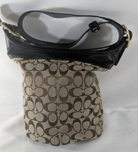MW *AUTH* Coach F0768-11437 Large Bleeker Signature Canvas Bucket Bag To... - $33.34