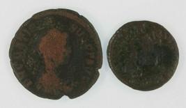 Romanzo Impero 2-coin Set 378 Imperatore Valens AE3 383 Imperatore Grazi... - $49.49