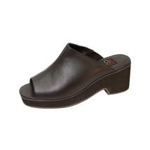 PEERAGE Leena Women Wide Width Chic Comfort Leather Heeled Sandals  - $34.95