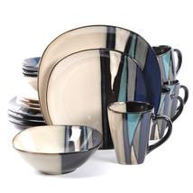 Gibson Elite Althea 16-Piece Dinnerware Set, Teal - $106.11