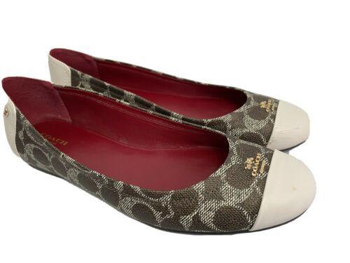 COACH Chelsea Signature Ballet Flats Shoes, Women's Size 10 - $43.69