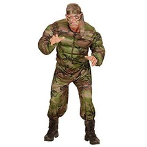 Widmann 00512 - adults Costume Muscular Soldier, Tank, Pants And Headban... - $32.29