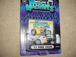 Muscle Machines '33 Ford Cpe 02-99 White Flamed Mip Free Usa Shipping - $11.29