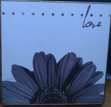 "Target Wall Art - 12"" x 12"" x 1.3"" - Vintage Flower Love BRAND NEW  Joan Coleman - $21.77"