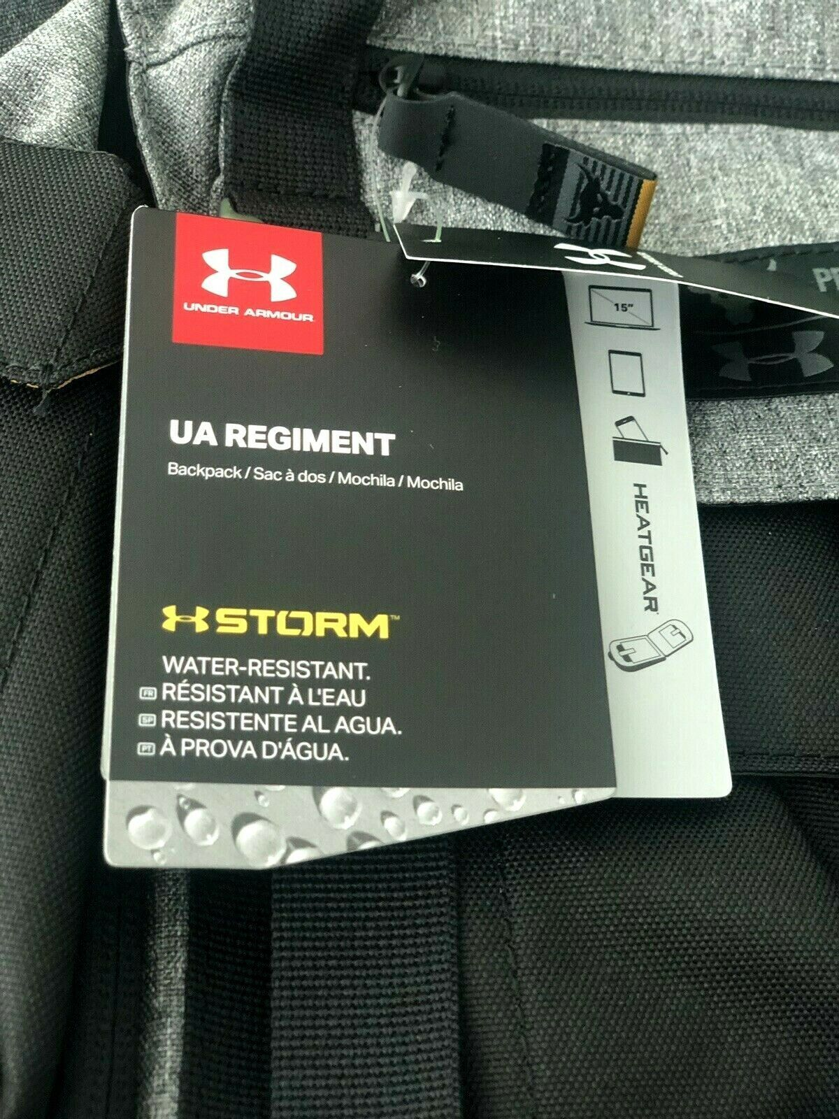 """UNDER ARMOUR UA PROJECT ROCK REGIMENT BACKPACK """"THE ROCK"""" BLACK/GREY NEW W/TAGS image 7"""