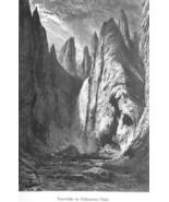 YELLOWSTONE Tower Falls - 1883 German Print - $21.60