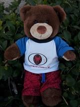 BUILD A BEAR Brown Teddy Bear Spider Man Outfit Talks - $16.00