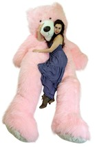 American Made Giant 9 Foot Teddy Bear Soft 108 Inches Pink Made in USA - $597.11