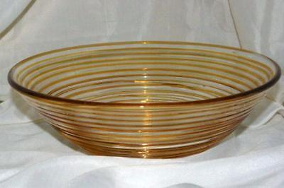 Primary image for Home Interiors For Better Homes And Gardens Amber Thread Console Bowl 10 7/8""