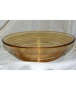 Home Interiors For Better Homes And Gardens Amber Thread Console Bowl 10... - $18.89