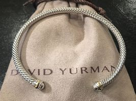 David Yurman Cable Classics Bracelet with 18k Gold, 4mm Size Medium - $249.99