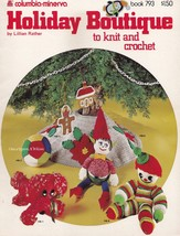Holiday Boutique, Columbia-Minerva Christmas Crochet & Knit Pattern Book... - $3.95