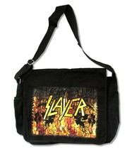 SLAYER Flames & Skulls Logo Messenger Bag New Officially Licensed - $17.00 CAD