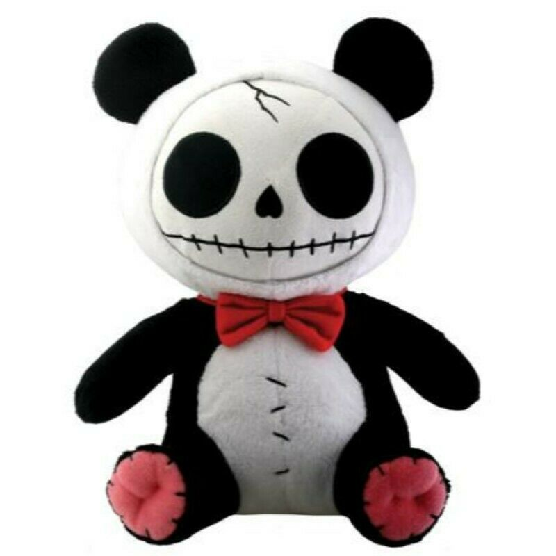 Primary image for Furrybones Panda Bear Pandie Wearing Red Bow Tie Plush Doll