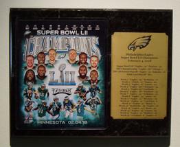 Philadelphia Eagles Super Bowl LII Champions Plaque w Engraved Nameplate... - $29.99