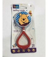 Vtg 1995 Winnie the Pooh Bear First Years Plastic Baby Rattle Toy New Ol... - $32.66