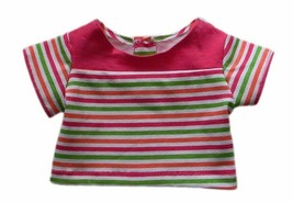 """18"""" Doll Clothes Pink Multicolor Striped Top Handmade - $6.49"""