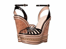 Jessica Simpson Aimms Embellished Wedge Sandals, Sizes 7.5-11 Black Pat JS-AIMMS - $79.96