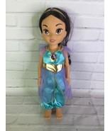 Disney Collection Aladdin Princess Jasmine Toddler Doll Toy 15in Blue Ou... - $29.69