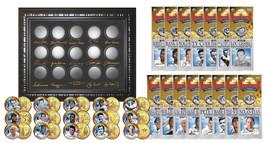 Lot of 3 GOLDEN BASEBALL LEGENDS 15-Coin Sets 24K Gold Plated State Quar... - $56.06