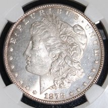 "1878 7 Tail Feathers Top 100 VAM 70 DDO ""RIB"" MS 63 Morgan Silver Dollar - $299.95"