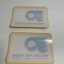 Lot Of 2 Old Vintage PHILADELPHIA FLYERS Window Decals Stickers - $12.85