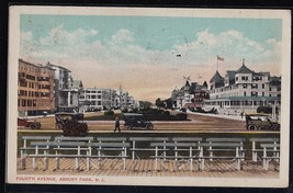 Antique Vintage Postcard Fourth Avenue, Asbury Park, N.J. 1917 - $4.94
