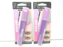 2 Revlon Volumazing 903 BLACKENED BROWN 100% Volumized Mascara Eye Brush... - $8.41