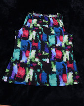 NWT NEW ELLEN TRACY Womens Sleevless Blouse Multi-Colored Large L - $38.95